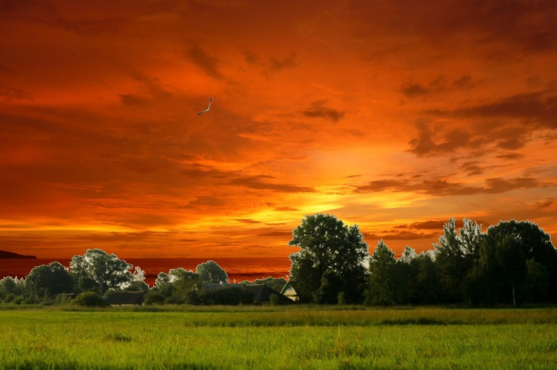 Lunapic free online photo editor replace sky with sunset for Rendering online free